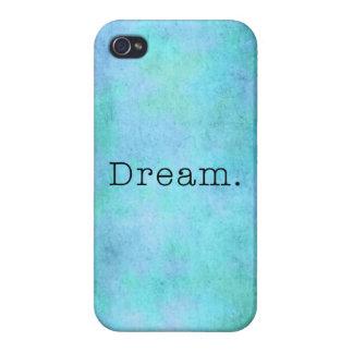Dream. Teal Blue Aqua Green Seafoam  Purple Dream iPhone 4/4S Case