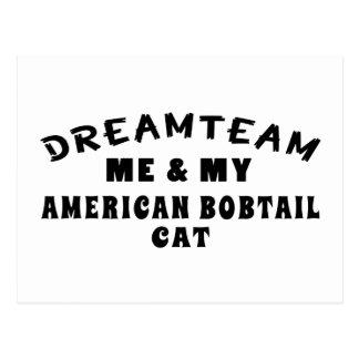 Dream Team Me And My American Bobtail Cat Postcard