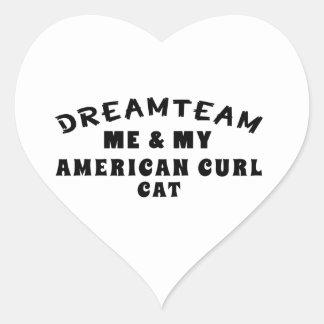 Dream Team Me And My American Curl Cat Heart Sticker