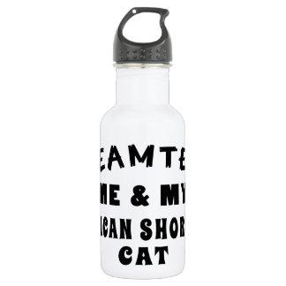 Dream Team Me And My American Shorthair Cat 18oz Water Bottle