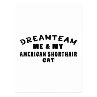 Dream Team Me And My American Shorthair Cat Postcard