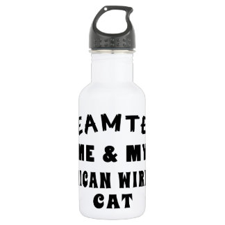 Dream Team Me And My American Wirehair Cat 18oz Water Bottle