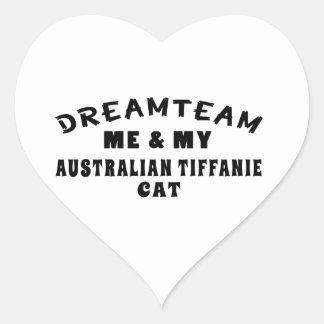Dream Team Me And My Australian Tiffanie Cat Heart Sticker