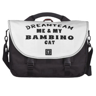 Dream Team Me And My Bambino Cat Laptop Bags