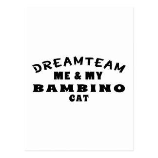 Dream Team Me And My Bambino Cat Postcard