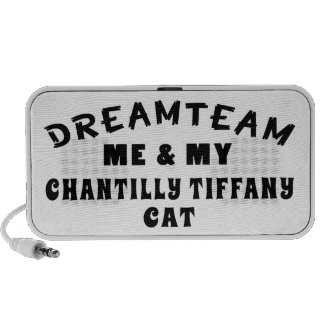 Dream Team Me And My Chantilly Tiffany Cat iPhone Speakers