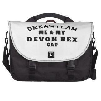 Dream Team Me And My Devon Rex Cat Commuter Bag