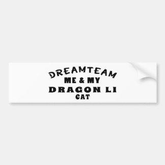 Dream Team Me And My Dragon Li Cat Bumper Stickers
