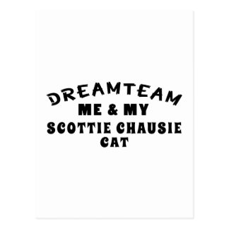 Dream Team Me And My Scottie chausie Cat Postcard