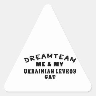 Dream Team Me And My Ukrainian Levkoy Cat Triangle Sticker