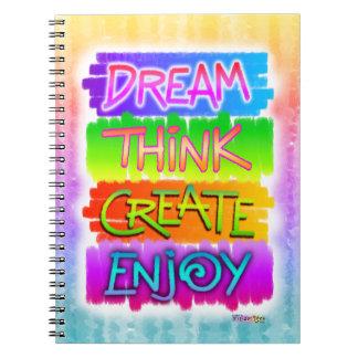 Dream Think Create Enjoy Inspirational Notebook