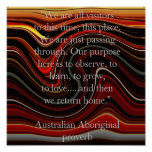 Dream Time Aboriginal proverb Posters