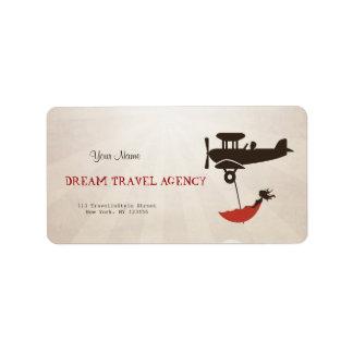 Dream Travel Agency Address Label