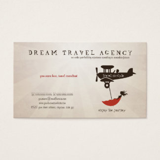 Dream Travel Agency business card