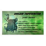 dream typewriter business card