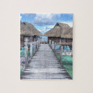 Dream Vacation Bora Bora Overwater Bungalows Jigsaw Puzzle