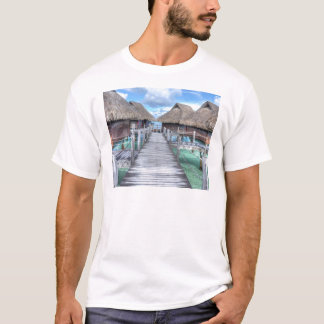 Dream Vacation Bora Bora Overwater Bungalows T-Shirt