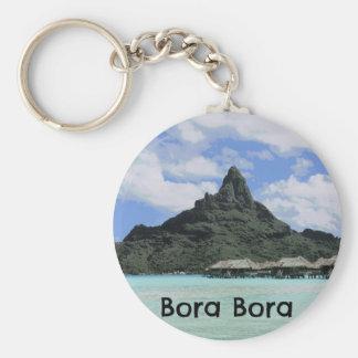 Dream Vacation Bora Bora Tahiti Atoll Formation Basic Round Button Keychain