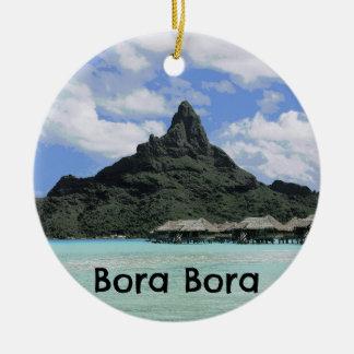 Dream Vacation Bora Bora Tahiti Atoll Formation Ceramic Ornament