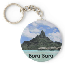 Dream Vacation Bora Bora Tahiti Atoll Formation Keychain