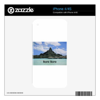 Dream Vacation Bora Bora Tahiti Atoll Formation Skin For The iPhone 4S