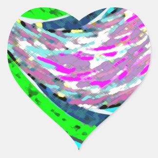 Dream Valley : Graphic  Art Heart Sticker