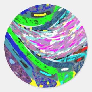Dream Valley : Graphic  Art Classic Round Sticker