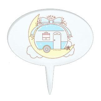 Dream Vintage Camper Trailer Cake Topper