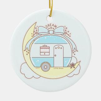 Dream Vintage Camper Trailer Ceramic Ornament