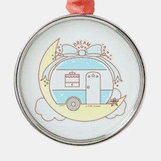 Dream Vintage Camper Trailer Metal Ornament