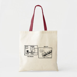 Dream vs Reality - Working in IT Canvas Bags