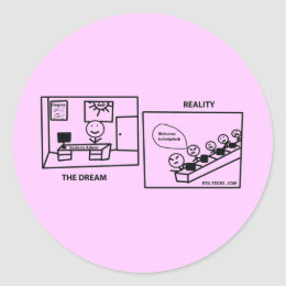 Dream vs Reality - Working in IT Classic Round Sticker