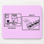 Dream vs Reality - Working in IT Mouse Pad