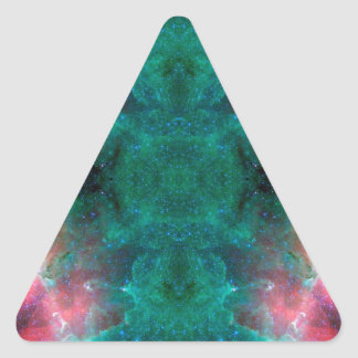 Dream Waves Space Art Triangle Sticker