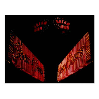 Dream Way, Vintage Cicero Il. Neon Sign Post Card Post Card