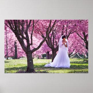 Dream Wedding Pink Flowers Poster