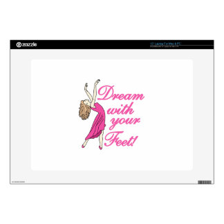 Dream With Feet Laptop Skins