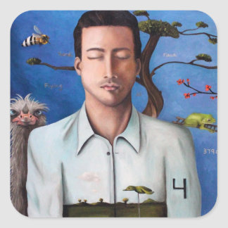 Dream Within A Dream 2 Square Sticker