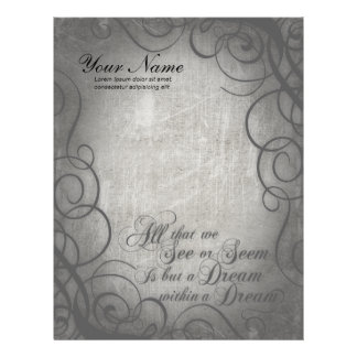 Dream Within A Dream Coordinates Personalized Letterhead