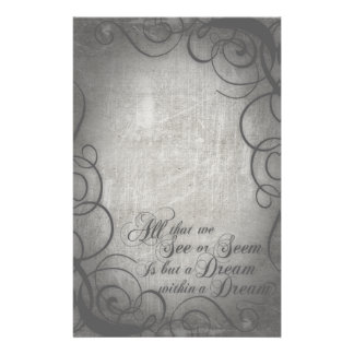 Dream Within A Dream Coordinates Stationery