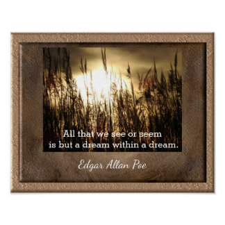 Dream Within A Dream - Poe quote -art print
