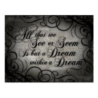 Dream Within A Dream Postcard
