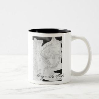 Dream Wizzard, Dragon In... Two-Tone Coffee Mug