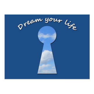 Dream your life postcard