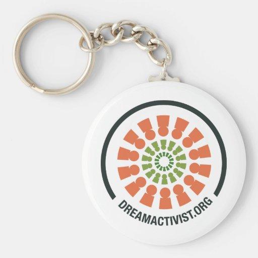 DreamActivist Basic Round Button Keychain