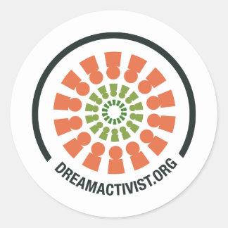 DreamActivist Pegatinas Redondas