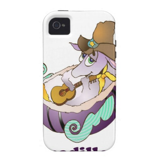 Dreamadillo Tex con la guitarra con text.jpg iPhone 4/4S Carcasa