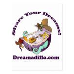 Dreamadillo Tex con la guitarra con text.jpg Postales
