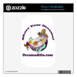 Dreamadillo Tex with Guitar with text.jpg iPhone 2G Decal