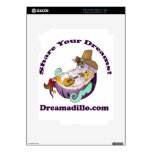 Dreamadillo Tex with Guitar with text.jpg iPad 2 Decal